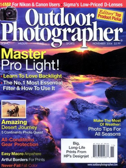 Outdoor Photographer Cover - 11/1/2004