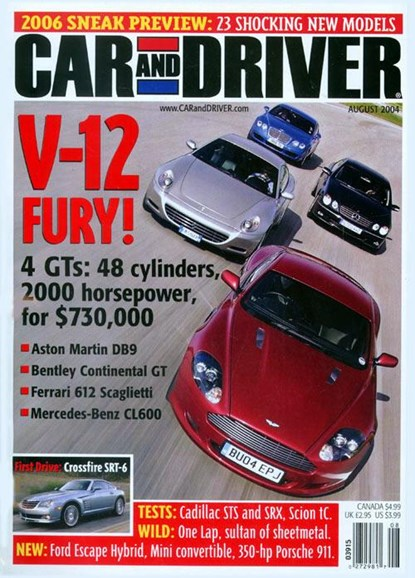 Car And Driver Cover - 7/23/2004