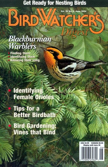 Bird Watcher's Digest Cover - 4/28/2004