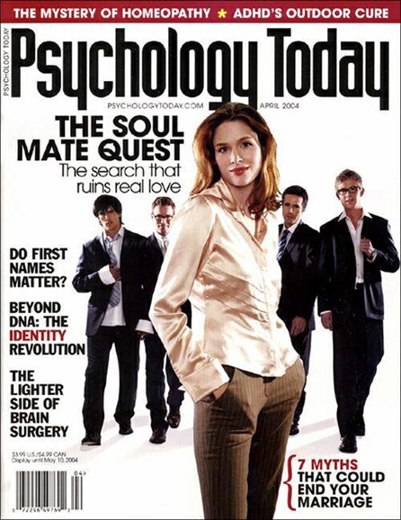 Psychology Today Cover - 11/8/2004