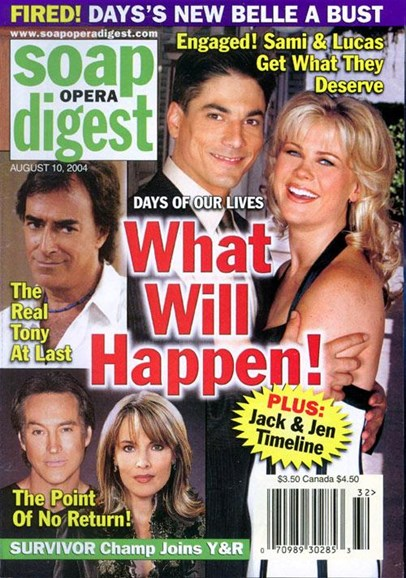 Soap Opera Digest Cover - 8/9/2004