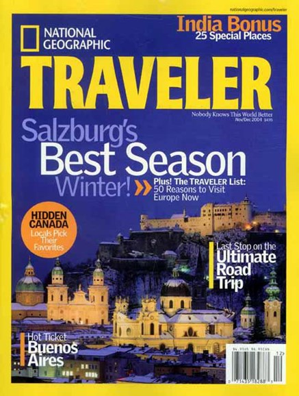 National Geographic Traveler Cover - 10/26/2004