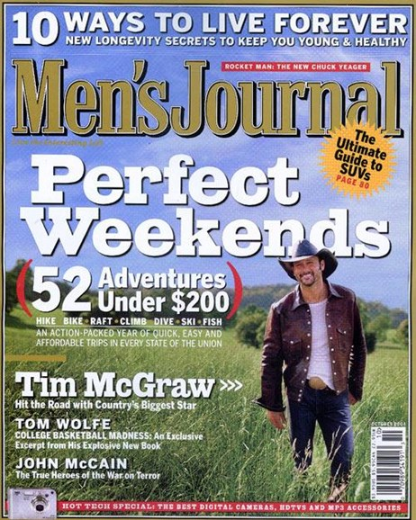 Men's Journal Cover - 9/8/2004