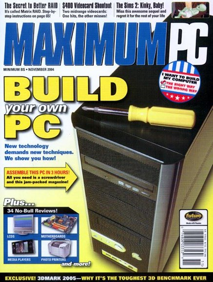 Maximum PC Cover - 10/18/2004