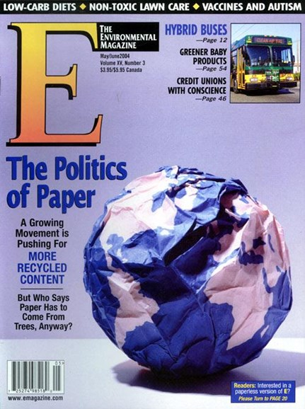 E: The Environment Magazine Cover - 4/29/2004