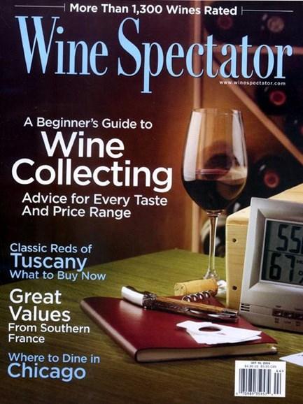 Wine Spectator Cover - 10/1/2004