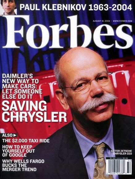 Forbes Cover - 8/3/2004