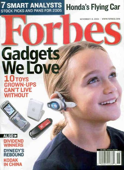 Forbes Cover - 11/8/2004
