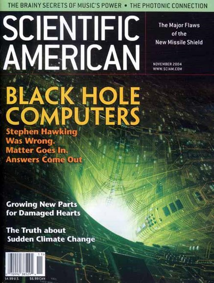 Scientific American Cover - 10/26/2004