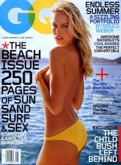 Gentlemen's Quarterly - GQ Cover - 4/23/2004