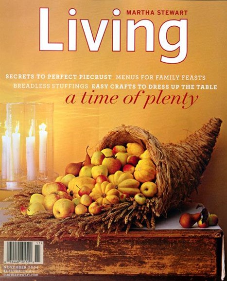 Martha Stewart Living Cover - 10/18/2004
