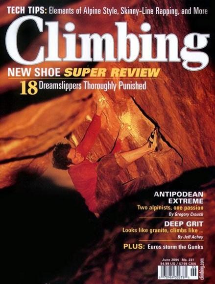 Climbing Magazine Cover - 4/23/2004