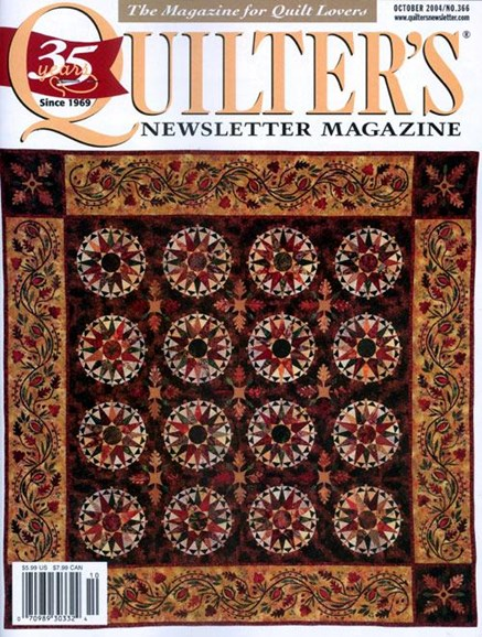 Quilter's Newsletter Cover - 9/8/2004