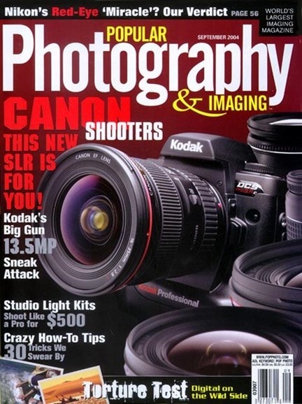 Popular Photography Cover - 8/9/2004