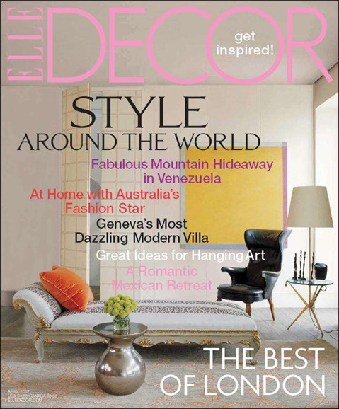 ELLE DECOR Cover - 4/1/2007