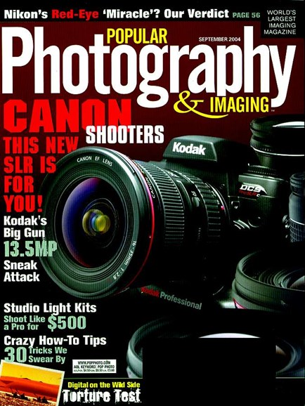 Popular Photography Cover - 9/1/2004
