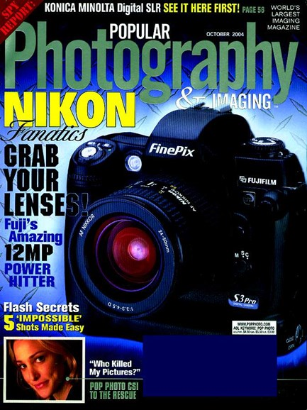 Popular Photography Cover - 10/1/2004