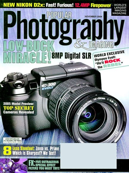 Popular Photography Cover - 11/1/2004
