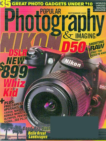 Popular Photography Cover - 9/1/2005