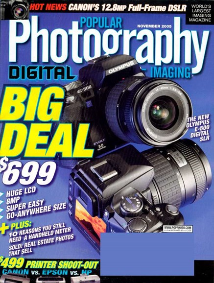 Popular Photography Cover - 11/1/2005