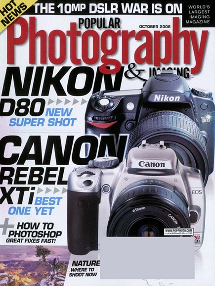 Popular Photography Cover - 10/1/2006