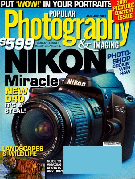 Popular Photography Cover - 1/1/2007