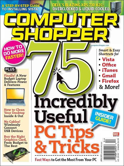 Computer Shopper Cover - 4/1/2007