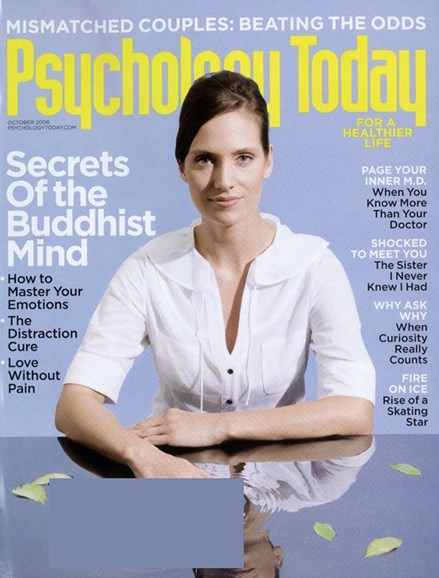 Psychology Today Cover - 10/1/2006