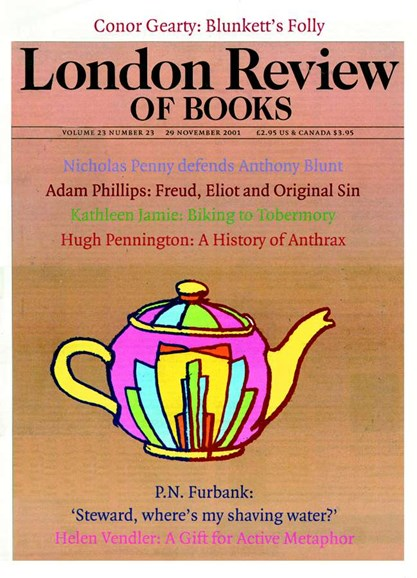 London Review Of Books Cover - 11/1/2001