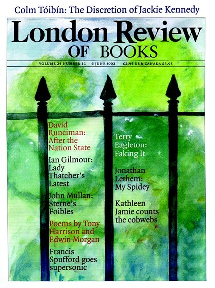 London Review Of Books Cover - 6/1/2002