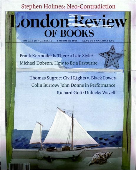London Review Of Books Cover - 10/3/2006
