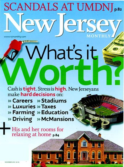 New Jersey Monthly Cover - 11/1/2005