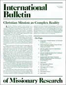 International Bulletin Of Missionary Research 4/1/2003