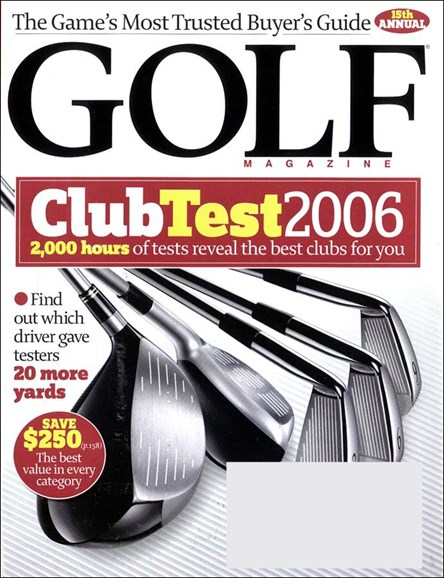 Golf Magazine Cover - 4/1/2006