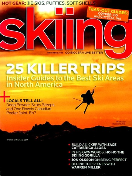 Skiing Cover - 11/1/2005