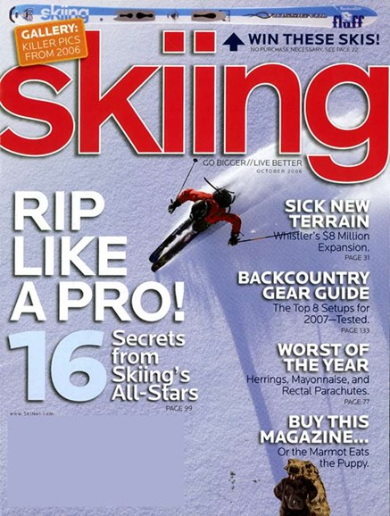 Skiing Cover - 10/1/2006