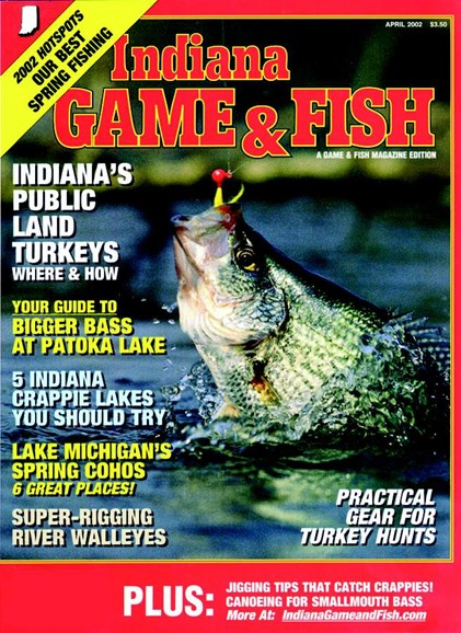 Indiana Game & Fish Cover - 4/1/2002