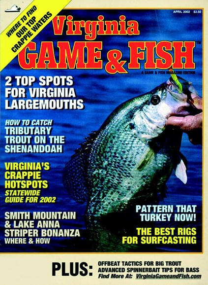 Virginia Game & Fish Cover - 4/1/2002