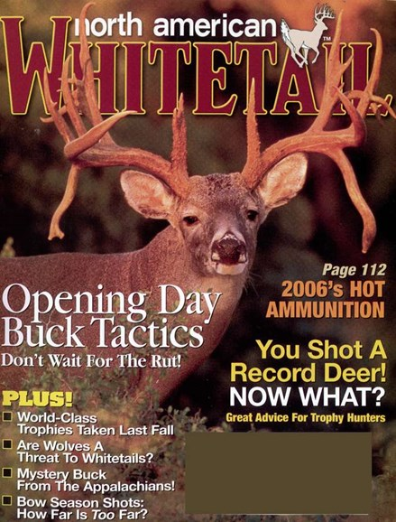 North American Whitetail Cover - 9/1/2006