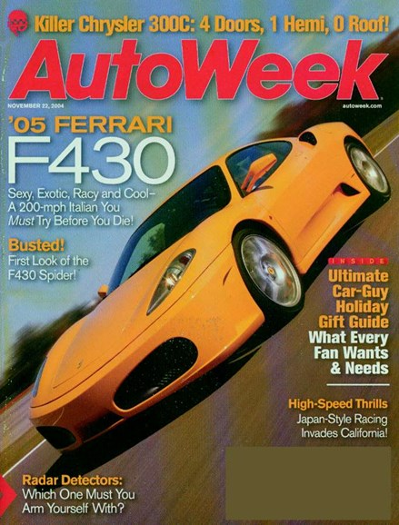 Autoweek Cover - 11/1/2004