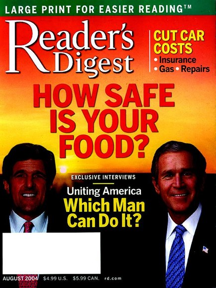 Reader's Digest - Large Print Edition Cover - 8/1/2004