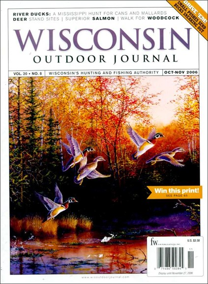 Wisconsin Outdoor Journal Cover - 11/1/2006