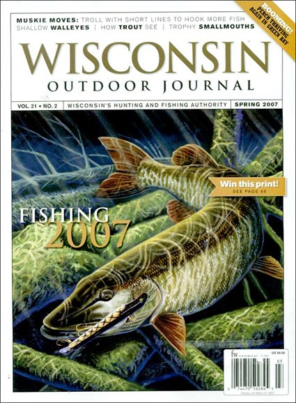 Wisconsin Outdoor Journal Cover - 4/1/2007