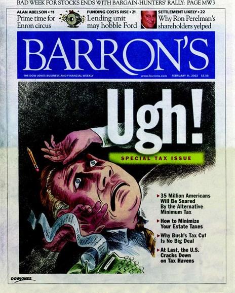 Barron's Cover - 2/1/2002