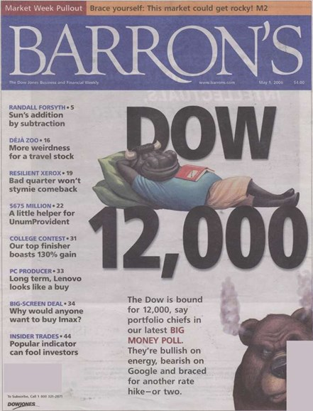 Barron's Cover - 5/1/2006