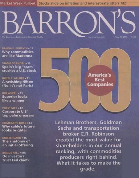 Barron's Cover - 5/14/2006