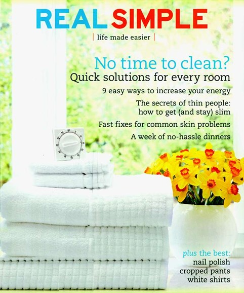 Real Simple Cover - 4/1/2006