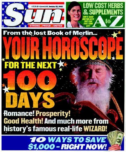 Sun Cover - 1/1/2002
