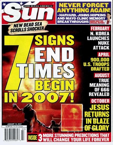 Sun Cover - 1/14/2007