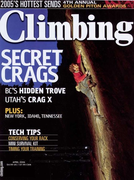 Climbing Magazine Cover - 4/1/2006